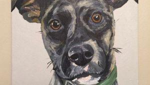 Drawing Of Dog Etsy Custom Pet Painting Custom Dog Painting by Hippiehoundusa On Etsy