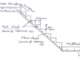 Drawing Of Dog Legged Staircase Design A Dog Legged Stair Case for Floor to Floor Height Of 3 2 M