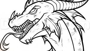 Drawing Of Dragons Easy How to Draw An Easy Dragon Head Step 12 Drawing Drawi