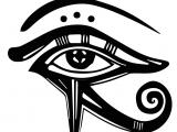 Drawing Of Egyptian Eye the Eye Of Horus the Egyptian Eye and Its Meaning Mythologian Net