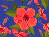 Drawing Of Exotic Flowers Seamless Hand Drawn Tropical Pattern with Jungle Exotic Hibiscus