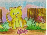 Drawing Of Flower Scenery Easy Scenery Drawing How to Draw A Cat In the Garden Step by Step