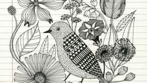 Drawing Of Flowers and Birds Pencil Sketch Of Bird and Flowers Food Drink that I Love
