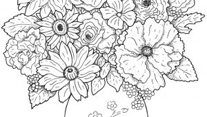 Drawing Of Flowers and Plants Coloring Pictures Of Plants New Cool Vases Flower Vase Coloring Page