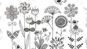 Drawing Of Flowers Pattern 0d Jpg 639a 443 Pixels Sensory Pinterest Journal