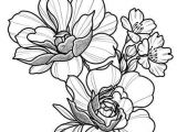 Drawing Of Flowers with Colour Floral Tattoo Design Drawing Beautifu Simple Flowers Body Art