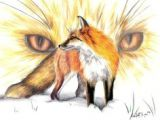 Drawing Of Fox Eyes 312 Best Foxes Drawings and Paintings Of Fox Images Fox Painting