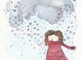 Drawing Of Girl and Boy In Rain Carola Vergara Rain Illustration Boy Illustration Drawings