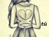 Drawing Of Girl Back Girl Fashion Dress Drawing Stripes Art Diy Drawings Art