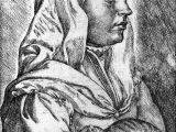 Drawing Of Girl Holding Cat Drawing Of A Woman Wearing A Head Covering Holding A Kneeding Cat