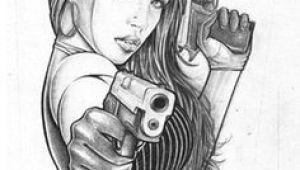 Drawing Of Girl Holding Gun Gangster Girl Gun Violence Police Tattoo Drawings Tattoos