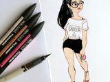 Drawing Of Girl In Crop top Anna Lubinski Illustration Fashionillustration Fashion Paris