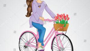 Drawing Of Girl Riding A Bike Girl Riding On Pink Bicycle Cycle Shahi Swari Pinterest