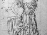Drawing Of Girl Standing Gustav Klimt Standing Lady Leaning On A Chair Study for the