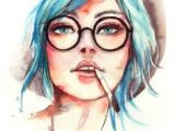Drawing Of Girl with Glasses 784 Fantastiche Immagini Su Glasses Illustrations Backgrounds