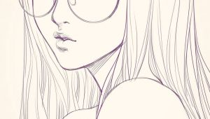 Drawing Of Girl with Glasses Last Sketch Of Girl with Glasses Having Bad Backache It Hurts