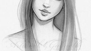 Drawing Of Girl with Long Hair Long Hair Beautiful Girl Sketch Illustration Drawing Bella