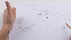 Drawing Of Hands In Handcuffs How to Draw Empty Handcuffs with Pictures Wikihow