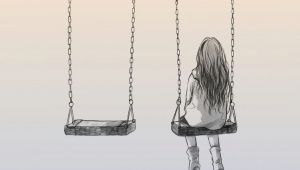 Drawing Of Little Girl On Swing Lonely by Nhienan On Deviantart Illustration Pinterest