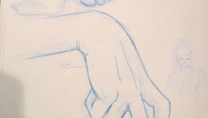 Drawing Of My Hands Working On some 5 Minute Studies Of Hands and Feet In My Sketchbook