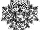 Drawing Of Skull Tattoo Skull and Roses Sketch Vector Tattoo Ideas Pinterest Tatouage