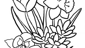 Drawing Of Spring Flowers Easy to Draw Spring Pictures Spring Flowers Coloring Pages Lovely