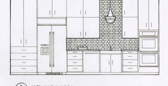 Drawing Of Things In the Kitchen Detailed Elevation Drawings Kitchen Bath Bedroom On Behance