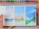 Drawing On Canvas Easy Cool Things to Paint How to Paint with Watercolor Pencils