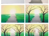 Drawing On Canvas Easy How to Paint A Spring Tree Path Easy Canvas Painting