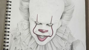 Drawing Pennywise Easy Pennywise George Young Pencil 2017 Scary Drawings Art