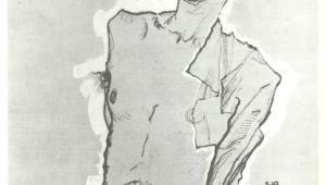 Drawing Red Eye Dirtydirtyblonde Egon Schiele Self Portrait with Red Eye 1910