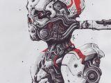 Drawing Robot Eye Rome Adzan Rome Adzan On Instagram 10 05 2017 Lazer Bewbs Art