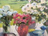 Drawing Still Life Flowers La Vie En Rose by Janette Jones Oil 30 X 36 Still Life and