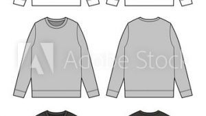 Drawing T Shirt Outline Sweat Shirt Vector Illustration Flat Sketches Template Ae A A