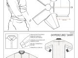 Drawing T Shirt Pattern One Piece Shirt Experimental Pattern Cutting Pattern Done by Me
