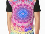 Drawing T Shirt Pattern Rainbow Anenome Mandala Graphic T Shirt Look What I Bought today