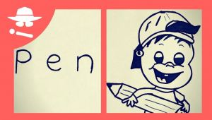 Drawing Things From Words How to Turn Word Pen Into A Cartoon Learn Drawing Art On Paper for