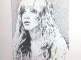 Drawing Using Dots Don Pedicini Jr Stevie Nicks Fleetwood Mac original Art Portrait