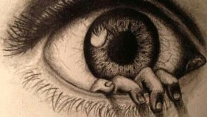 Drawing Using Eyes Incredibly Drawn Eye with A Hand Coming Out Of It Smarty Arty Art