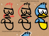 Drawing Using Words How to Draw A Cartoon Bird From the Word Bird with Easy Steps
