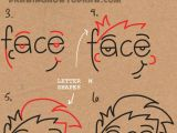 Drawing Using Words How to Draw Cartoon Faces From the Word Face Easy Step by Step
