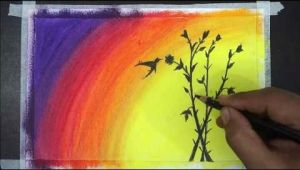 Drawing with Oil Pastels Easy for Beginners Painting Of Oil Pastel Oil Pastel Drawing Easy
