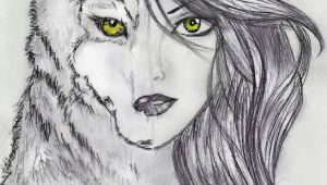 Drawing Wolf Woman Pin by Evelyn Bone On Drawing In 2019 Drawings Art Art Drawings