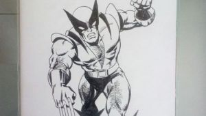Drawing X-men Characters Mitton Jean Yves X Men 92 Blank Cover with original Wolverine