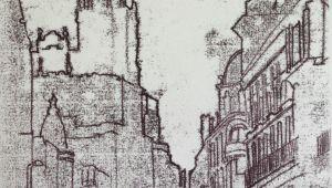 Drawing X On Hand Gran Via Drawing 20 X 30cm Monoprint Unique Piece Hand Drawn On