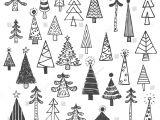 Drawing Xmas Tree Christmas Tree White Spruce Fir Fir Tree Simple Drawing Set Draw