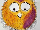 Drawing Yellow Eyes Happy Bird Galerie Kunterbunte Happy Birds Nach Owls Painting