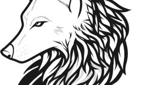 Drawings Of A Wolves Head Draw Wolf Tattoo Drawing and Coloring for Kids Tattoos Wolf