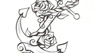 Drawings Of Anchors with Roses Anchor Rope Rose Tattoo Sketch Drawings Tattoos Anchor