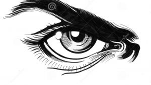 Drawings Of Angry Eyes Angry Eye Stock Illustration Illustration Of Sketch 92561167